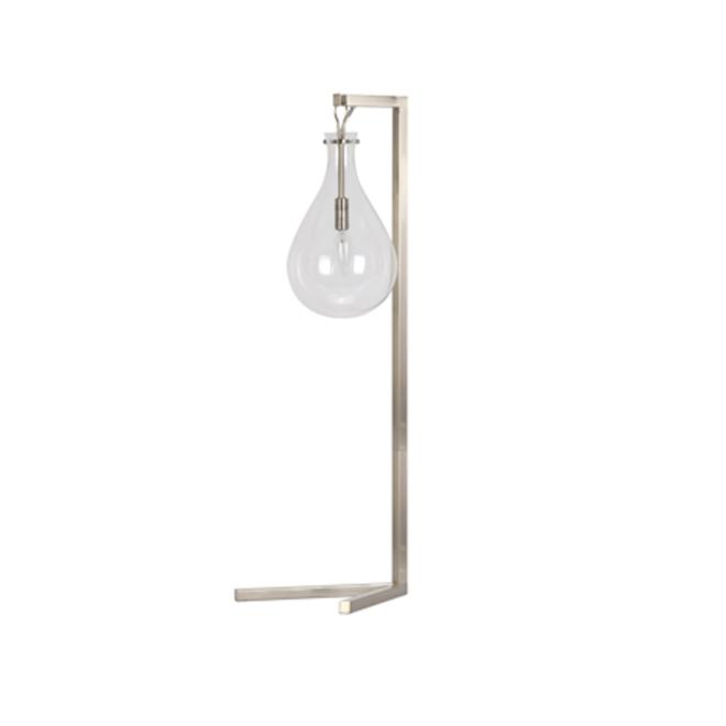 """Floor Lamp - 61"""" - Metal/Glass -  Brushed Nickel"""