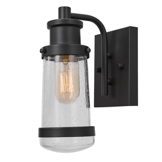 "Helm Outdoor Wallsconce - 12.5"" - Black"
