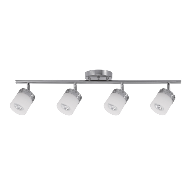 Hanrahan 4-Light Track Light - Clover Pattern - Metal/Glass
