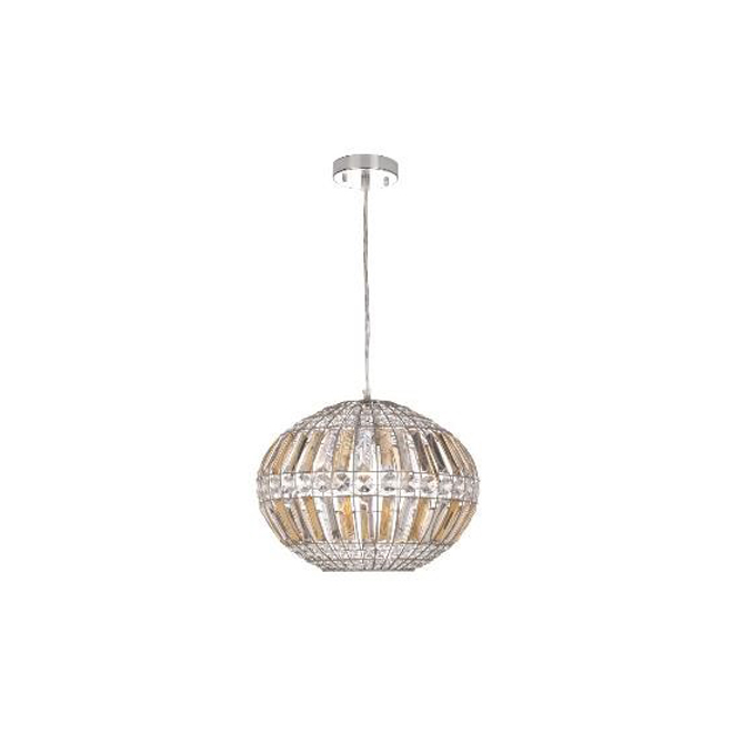 Arya 1-Light Pendant Light - Metal/Acrylic - Chrome