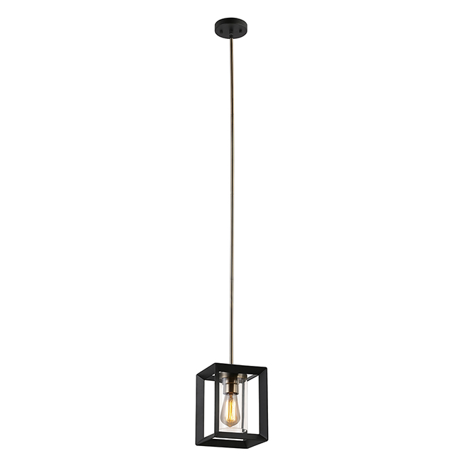 "Globe Verona Pendant - 60"" - Metal/Glass - Bronze/Brass"