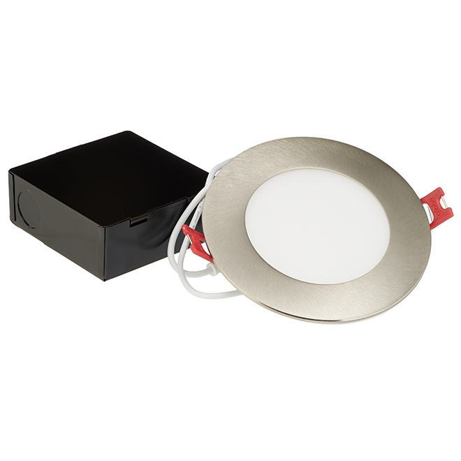 Dimmable Recessed Light - Slim - 9W LED - Brushed Nickel