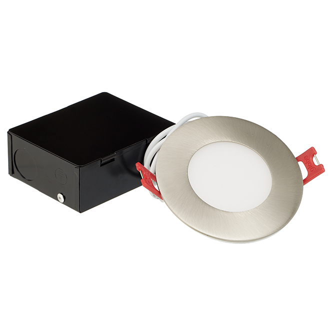 "Ultra-Slim Recessed Light - LED - 3"" - 6 W - Brushed Nickel"