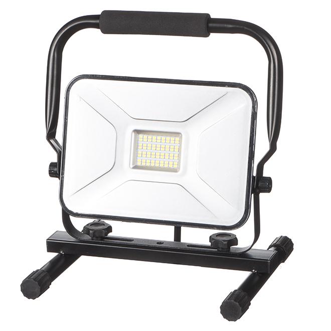 Lampe de travail mince, DEL 30 W, noir