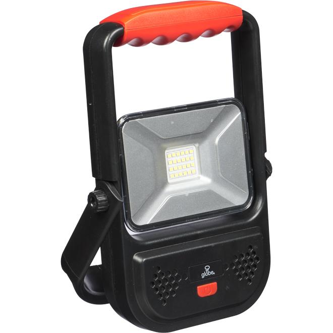 Lampe de travail rechargeable, DEL 30 W, noir/rouge