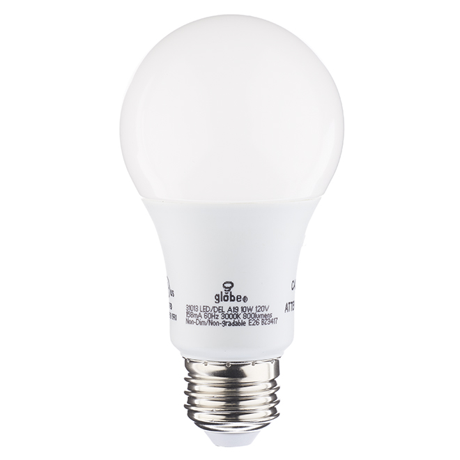 Ampoule DEL A19 10 W, détecteur de lumière, blanc chaud