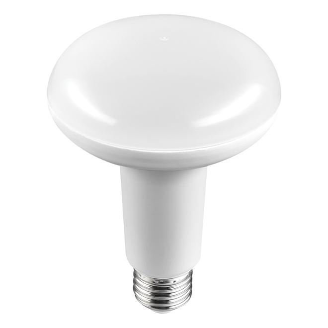 Ampoule DEL BR30 8 W, détecteur de lumière, blanc chaud