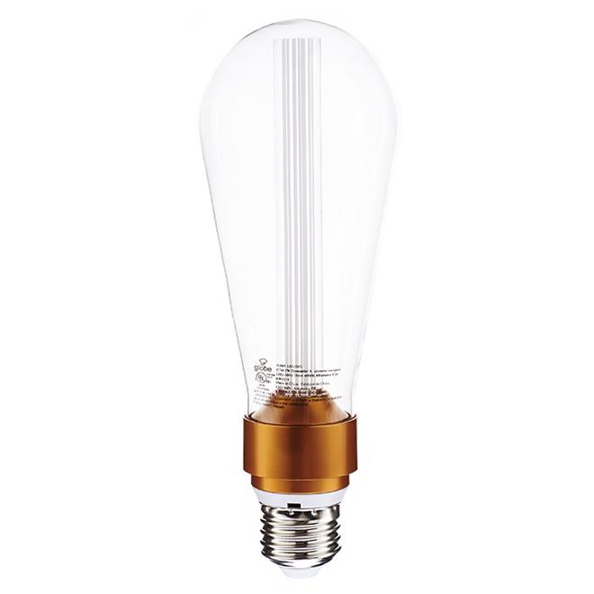 Ampoule DEL ST64 3 W, intensité variable, transparent