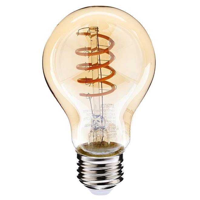 Ampoule DEL A19 6,5 W, intensité variable, ambré