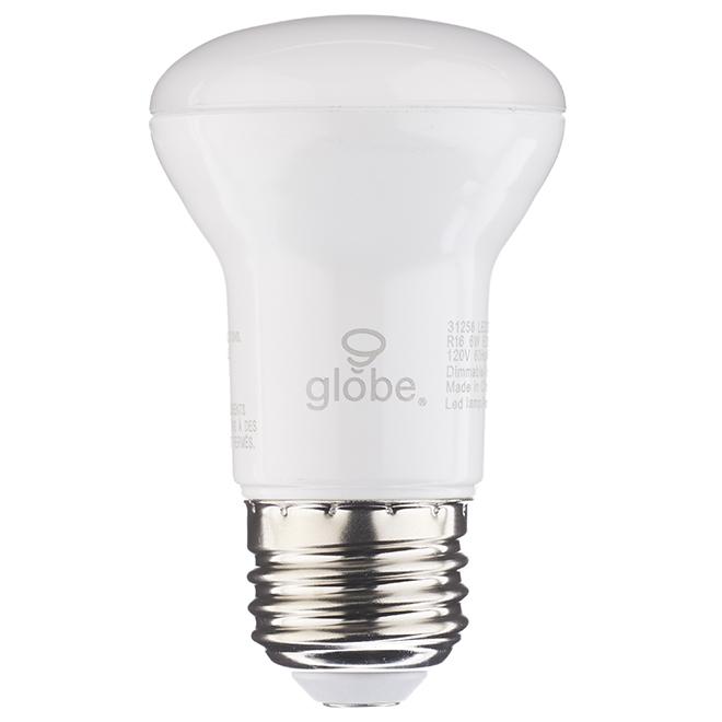 Ampoule DEL R16 6 W, intensité variable, blanc doux