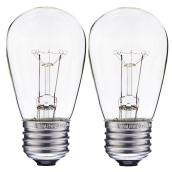 Vintage Bulb - S14 Type - Medium Base - 11 W - Pack of 2