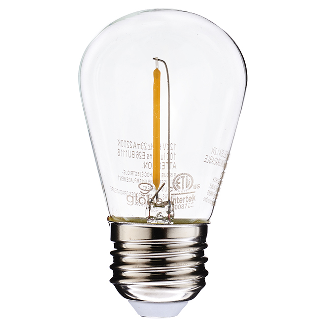 Ampoule DEL A19 1,2 W, intensité non variable, transparente