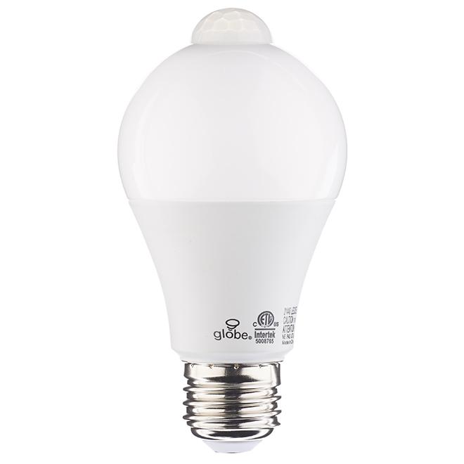 Ampoule DEL A19 10 W, détection de mouvement, blanc doux