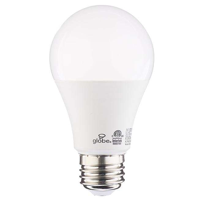 Globe LED Bulb with 3 Colour Levels - A19 - E26 - 10 W
