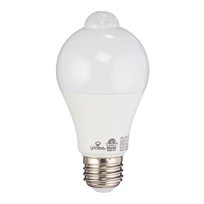Ampoule DEL A19 7 W, détection de mouvement, blanc doux