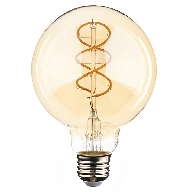 Globe Dimmable LED Bulb - G30 - E26 - 6.5 W - Amber