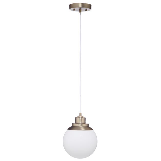 luminaire suspendu portland 60 w globe en verre 65852 rona. Black Bedroom Furniture Sets. Home Design Ideas