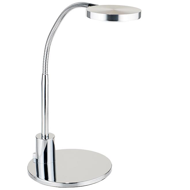 Lampe de bureau à col de cygne, DEL 4 W, nickel brossé