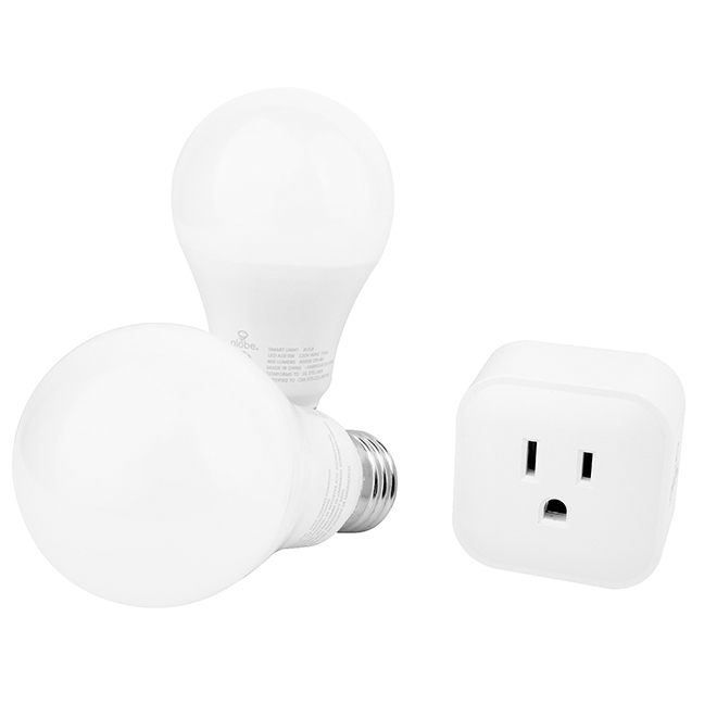 Smart Outlet and A19 Bulbs - WiFi - White - 3PC