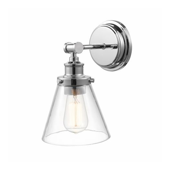 Globe Vanity Light - 1-Light - Chrome