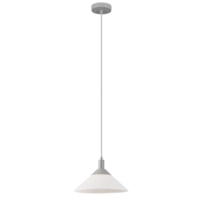 Luminaire suspendu 2 en 1 Harrow de Globe Electric, 59 po, gris et blanc