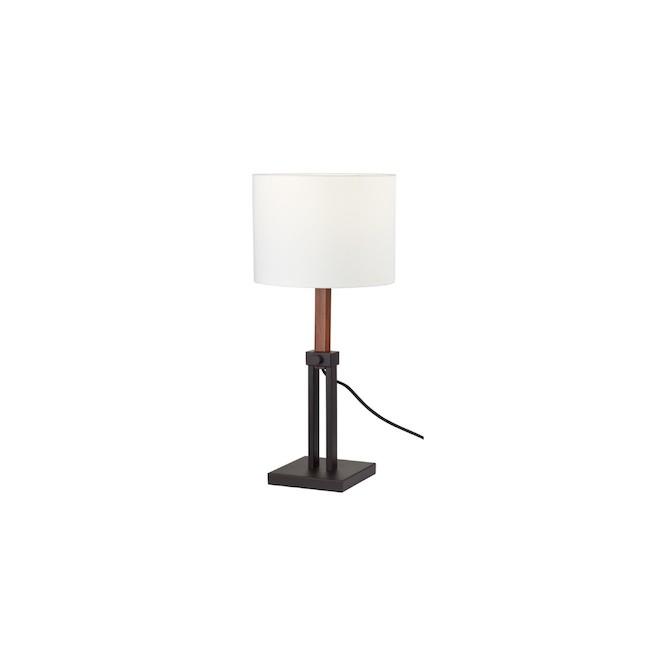 Globle Electric Dark Bronze and Faux Wood Adjustable Floor Lamp - 65-in