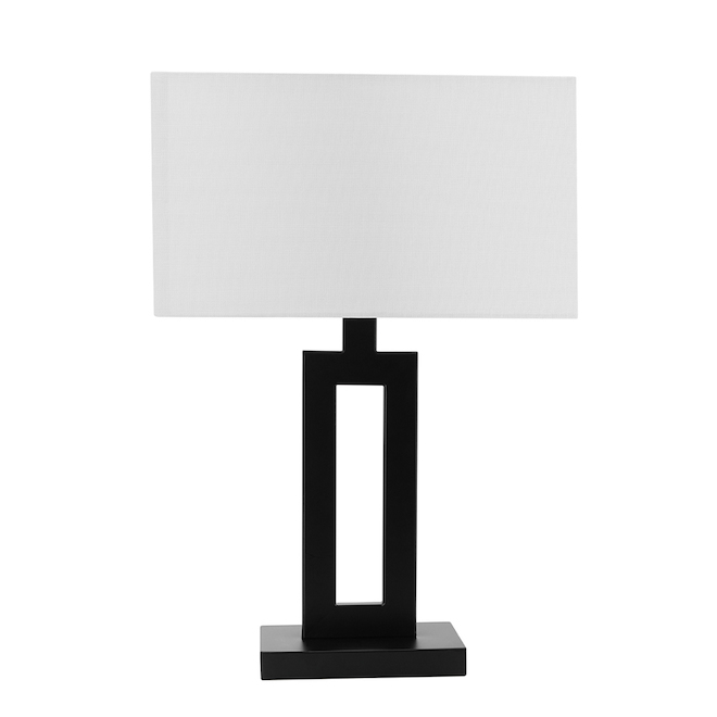 Globe Electric D'Alessio Table Lamps - 20-in - Metal/Fabric - Black - Set of 2