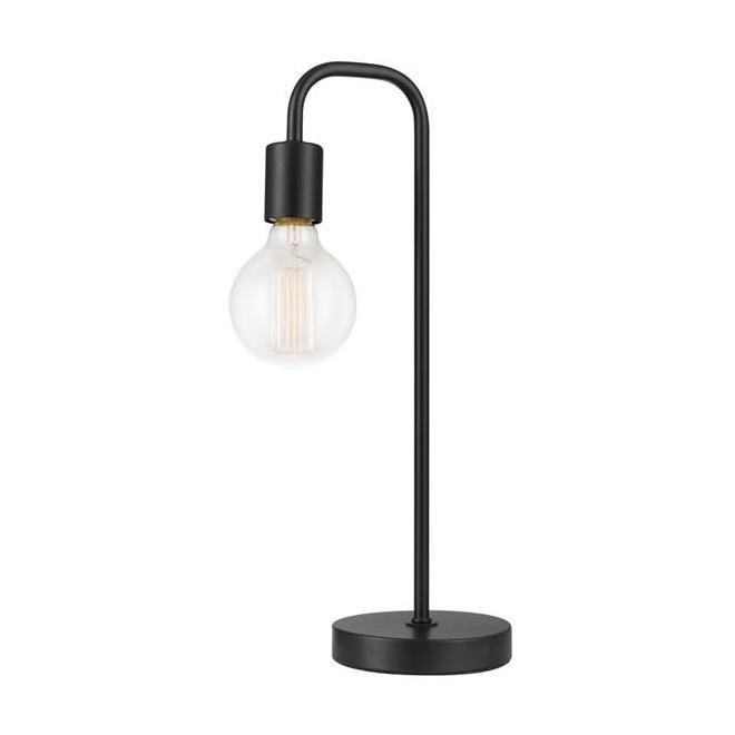 Globe Electric Holden Table Lamp - 18-in - Metal - Satin Black