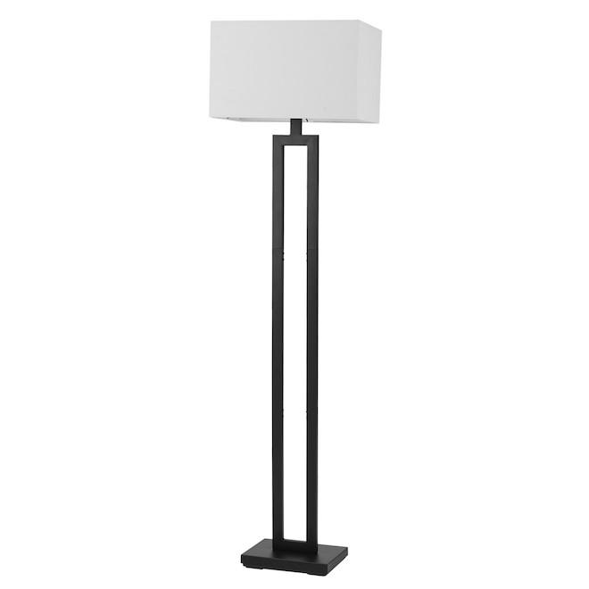 Globe Electric D'Alessio Metal Floor Lamp 58-in - Matte Black