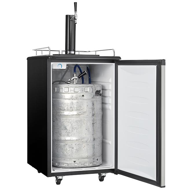 Réfrigérateur Danby(MD) pour fût à bière, robinet simple, 5,4 pi³, inox
