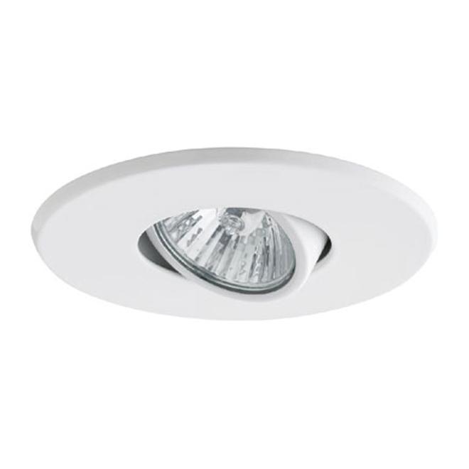 """Luminaire encastré traditionnel Globe, 4"""", métal, blanc"""