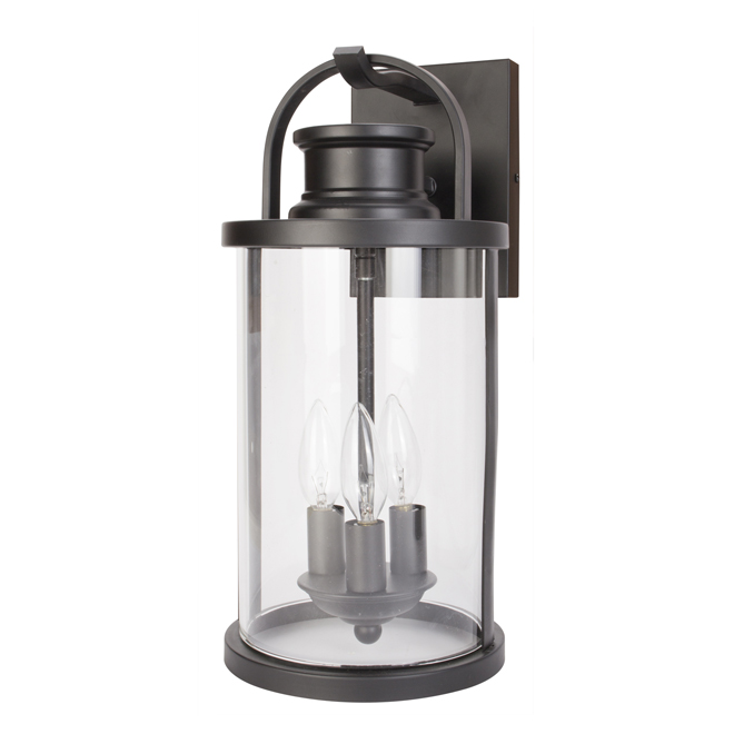 "Newbury Outdoor Wall Mount Lantern - 18.25"" - Black"