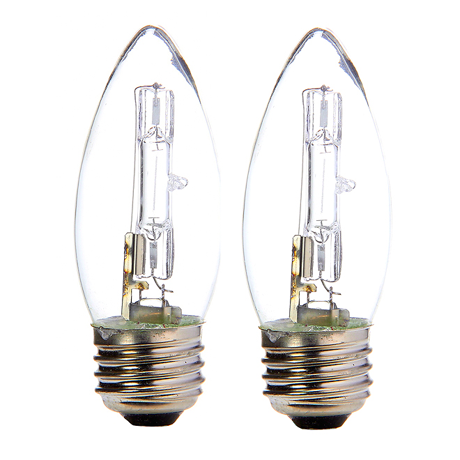 2-Pack 20 W B11 Clear Halogen Bulbs