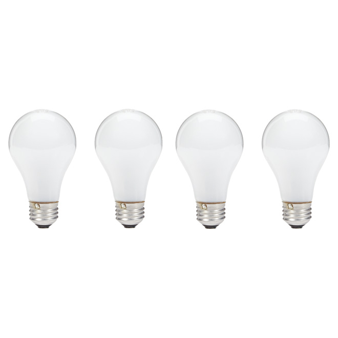 72W Halogen Dimmable A19 Bulb - Soft White - 4 Pack