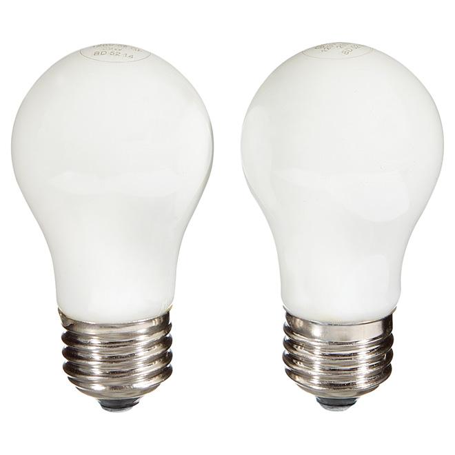 Paquet de 2 ampoules halogènes blanc doux A15 de 29 W