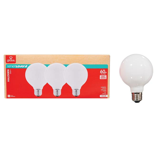 3-Pack 43 W G25 Soft White Halogen Bulbs