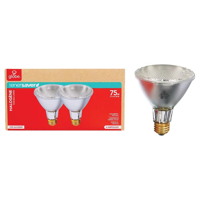 Ampoule halogène PAR30 60 W, transparente, paquet de 2