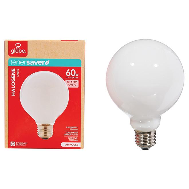 Ampoule halogène blanche, G30 de 43 W