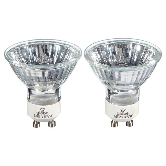 Ampoule halogène MR16/GU10 28W, clair, 2/pqt