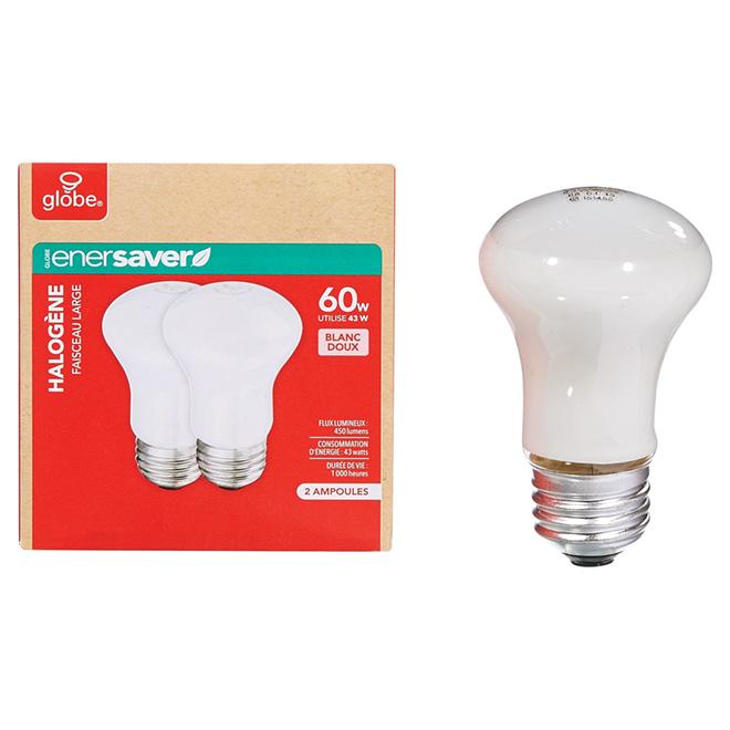 Paquet de 2 ampoules halogènes blanc doux R16 de 43 W