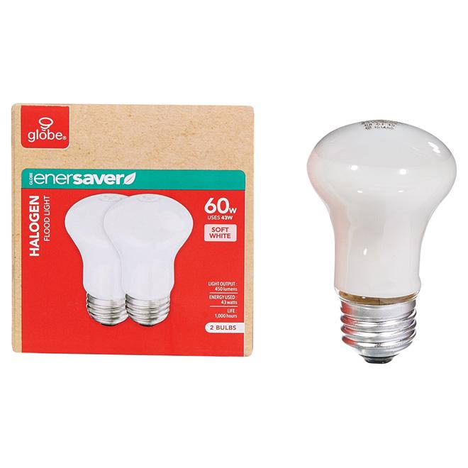2-Pack 43 W R16 Soft White Halogen Bulbs