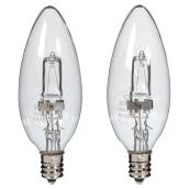 2-Pack 43 W B12 Clear Halogen Bulbs