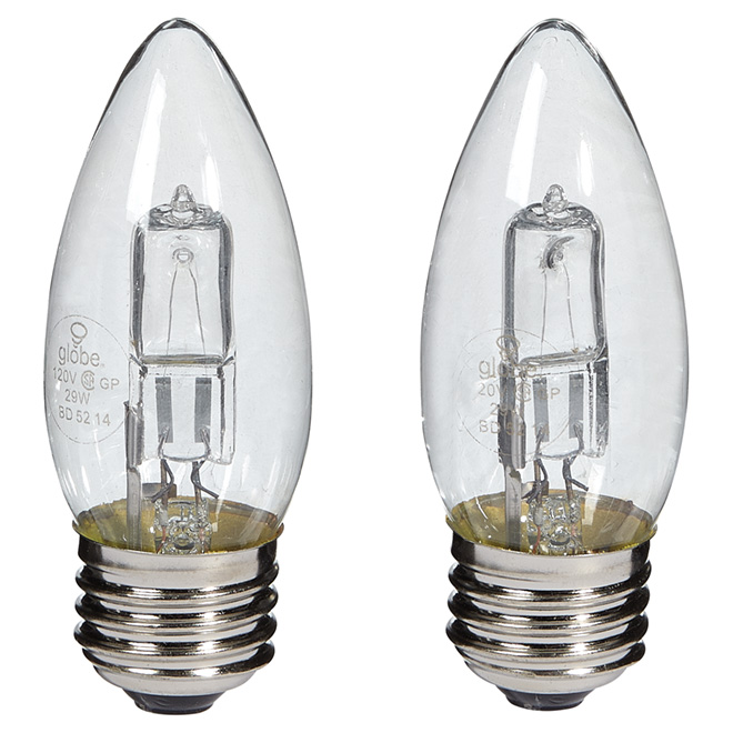 2-Pack 29 W B11 Clear Halogen Bulb