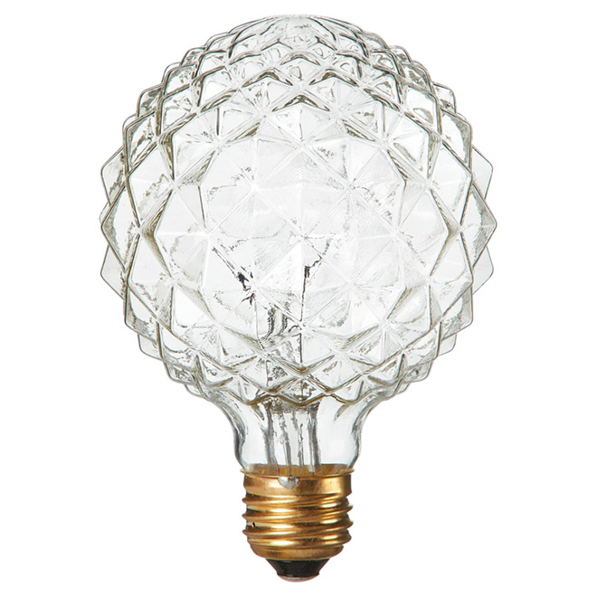 Crystalina Incandescent Bulb - G30 - E26 - 40 W - Clear