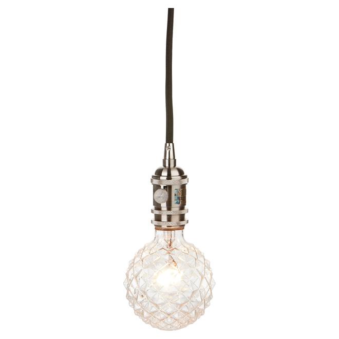Danburite 1-Light 2-in-1 Pendant - Brushed Steel