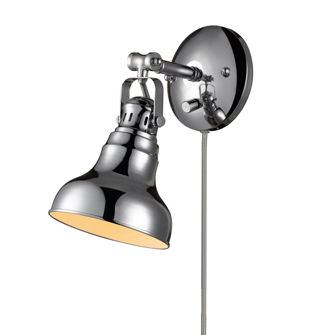 Charlevoix 1-Light Pivoting-Shade Wall Sconce - Chrome