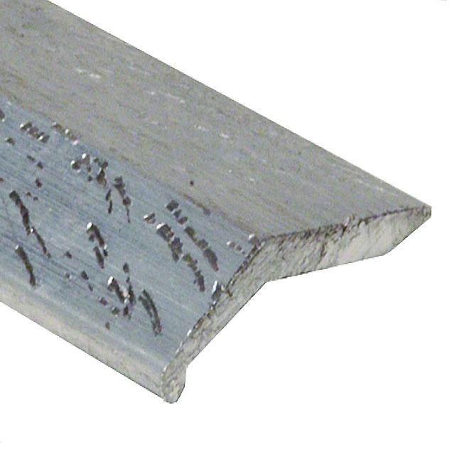 """Bordure à plancher, 11/2"""" X 3', aluminium, argent martelé"""
