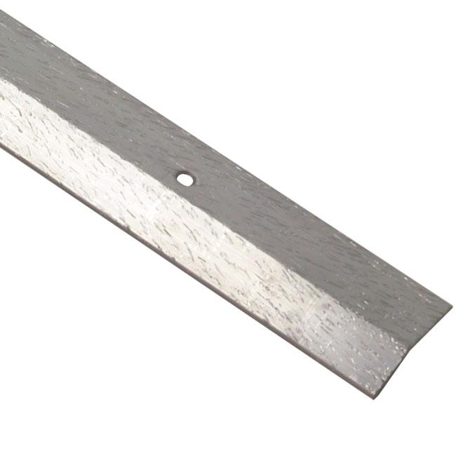 """Bordure égalisatrice, aluminium, 1 1/2"""" x 6', argent"""