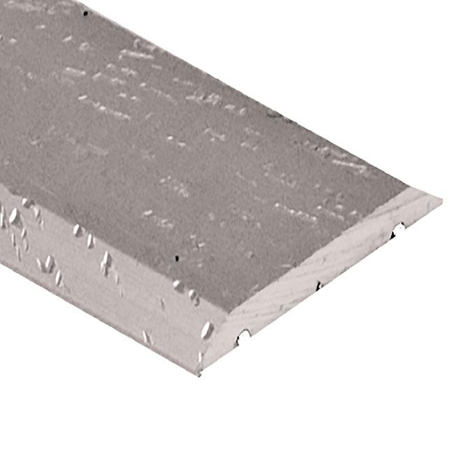 """Bordure à plancher, 1"""" X 6', aluminium, argent martelé"""