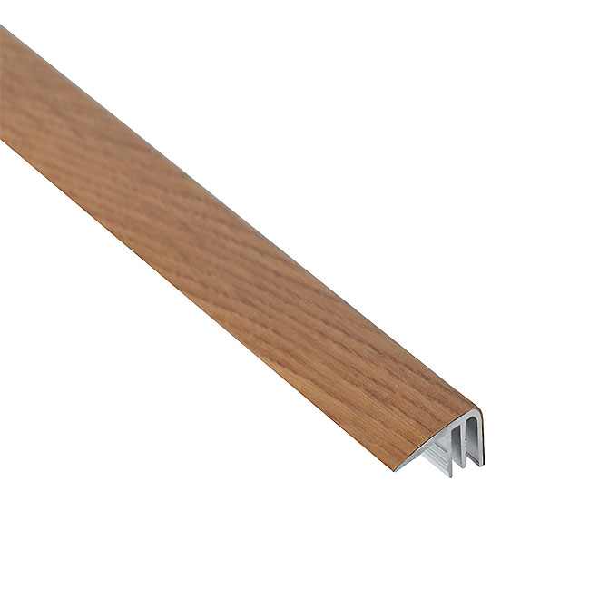 "Aluminum Stair Nosing - 0.3"" X 6' - Oak"
